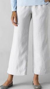 J.Jill Easy Linen Cropped Pants in white